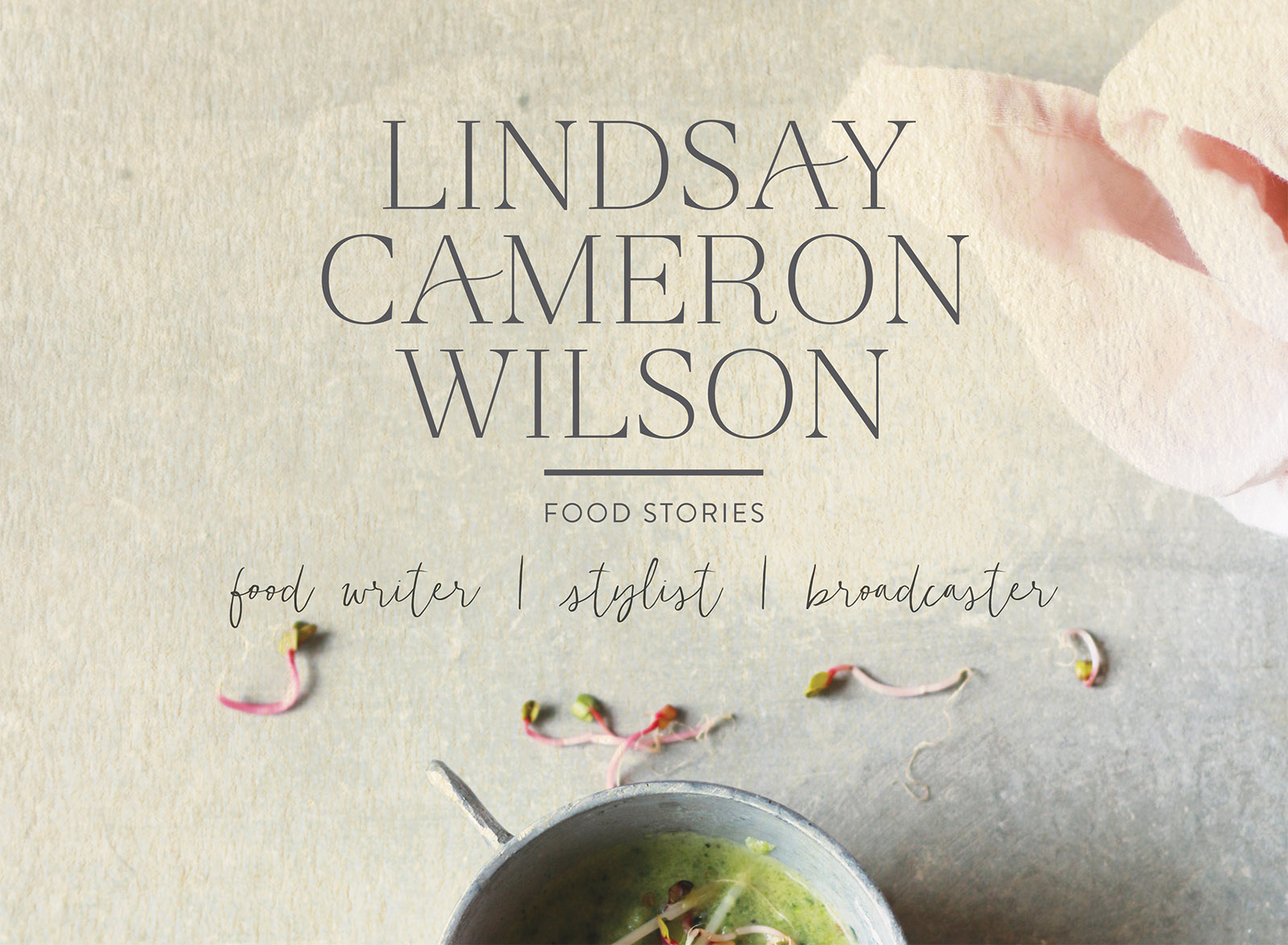 Lindsay Cameron Wilson, food writer, podcasts, food styling