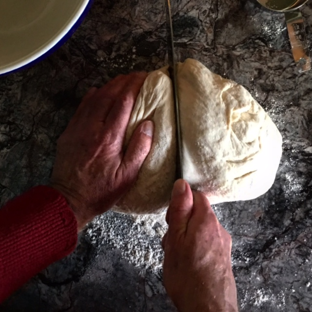 Cutting Sourdough