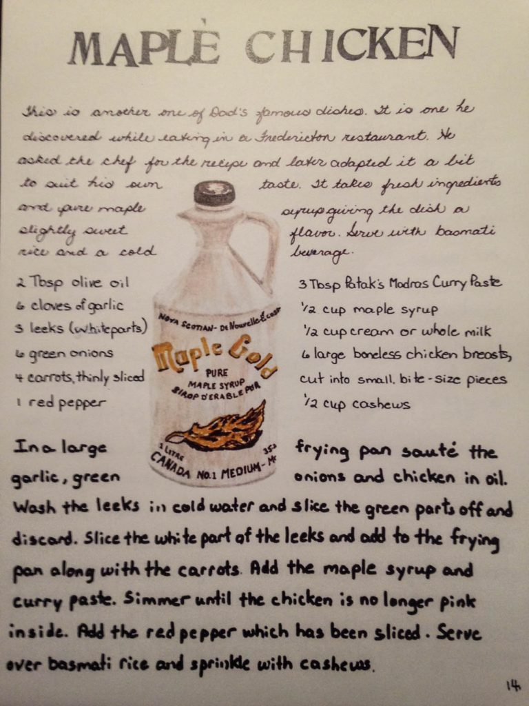 Susan's Maple Curry Recipe