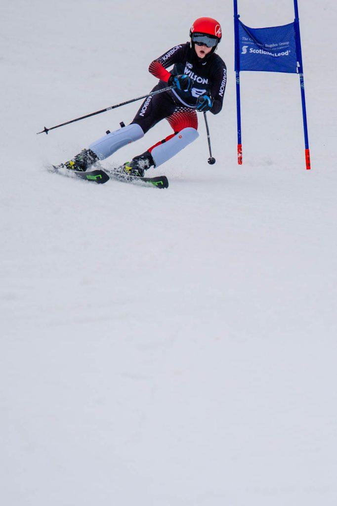 Charlie skiing