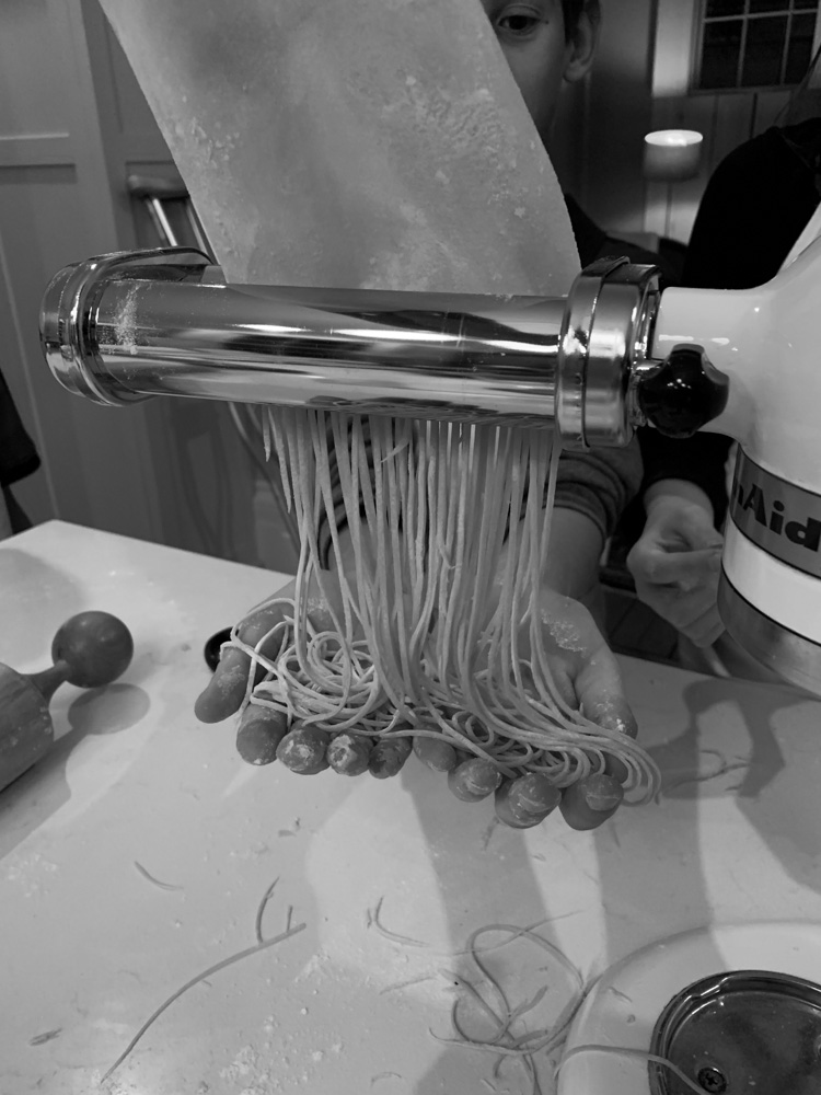 making fresh spaghetti
