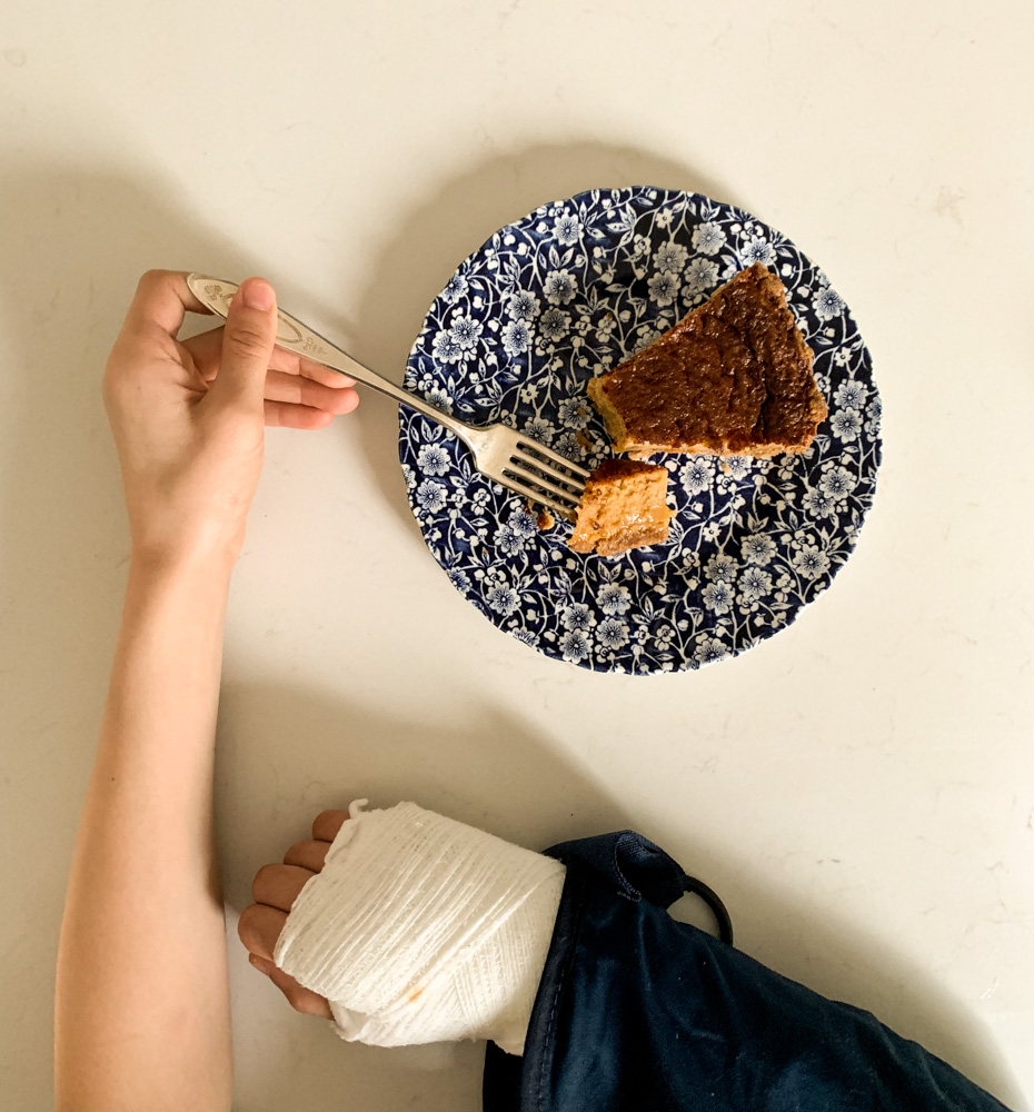 broken arm and chess pie