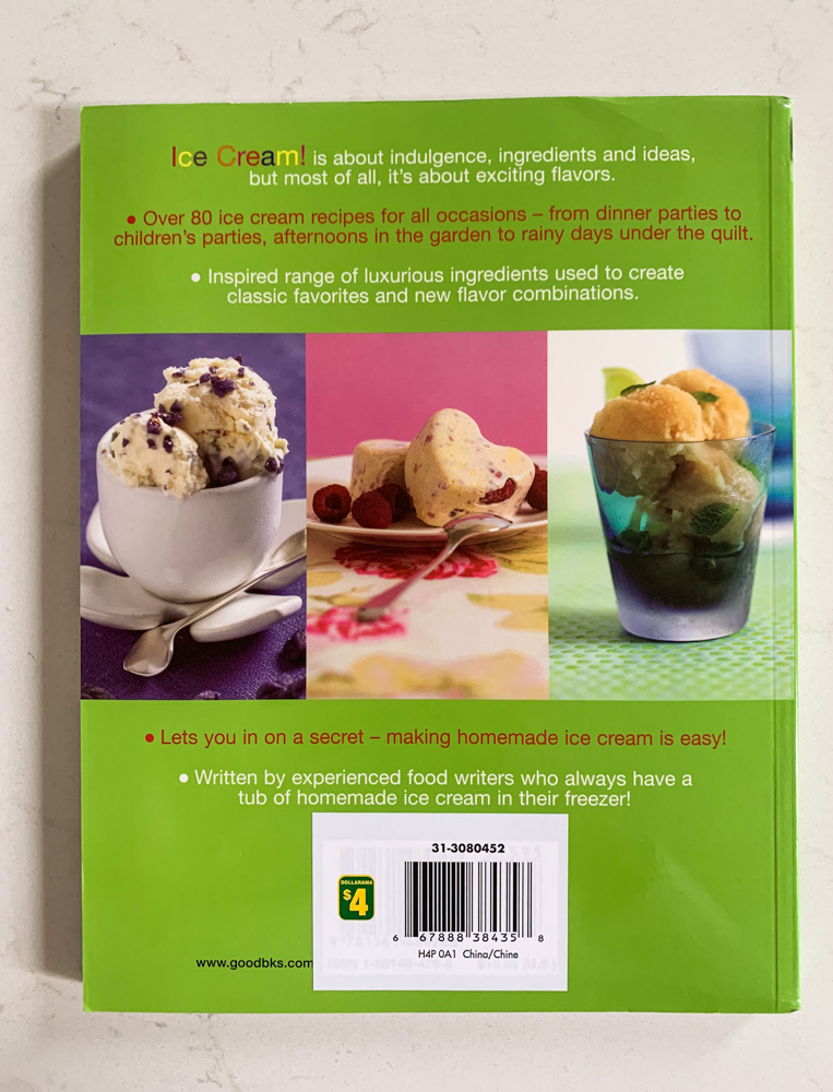 Ice Cream! Back Cover