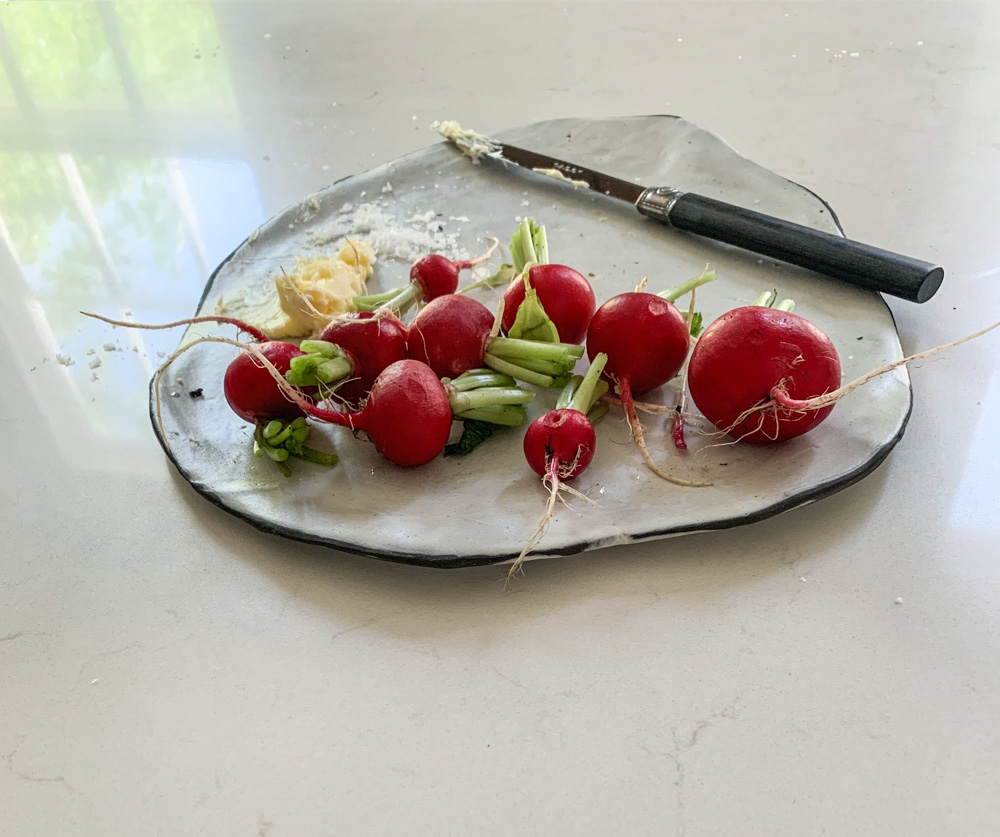Radishes with sea salt and butter