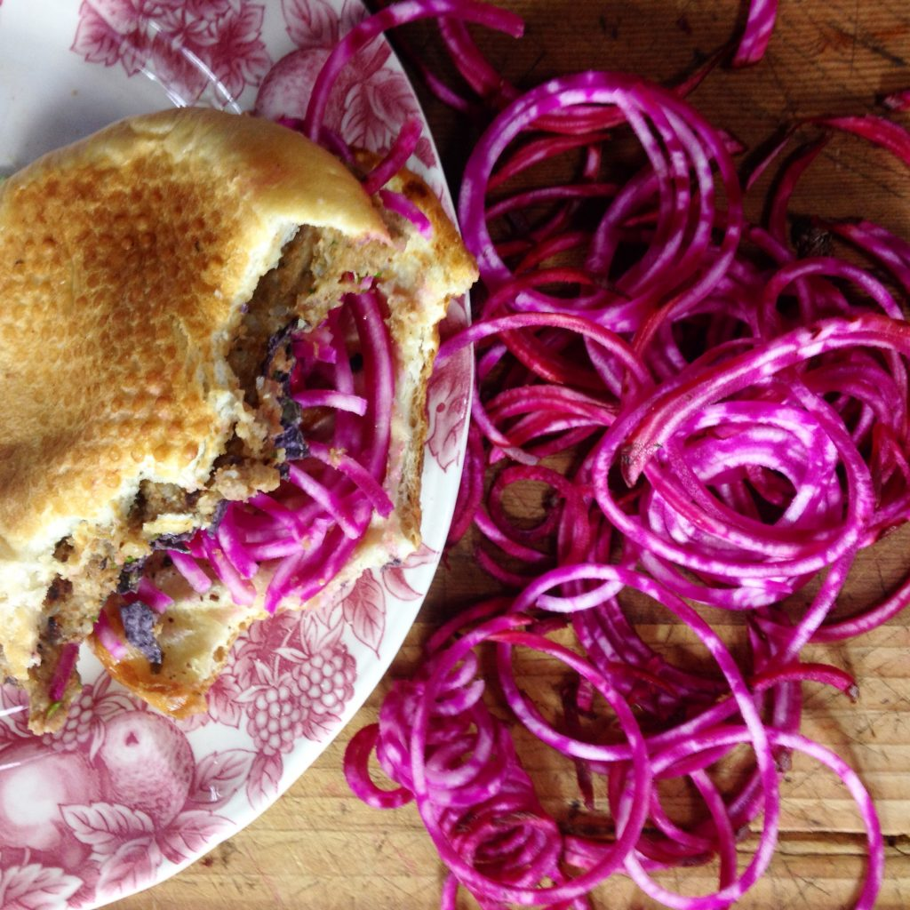 Jenn Gran's nutty lentil burger