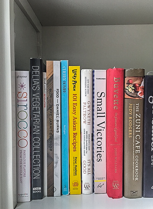 Some of Julia Turshen's cookbooks