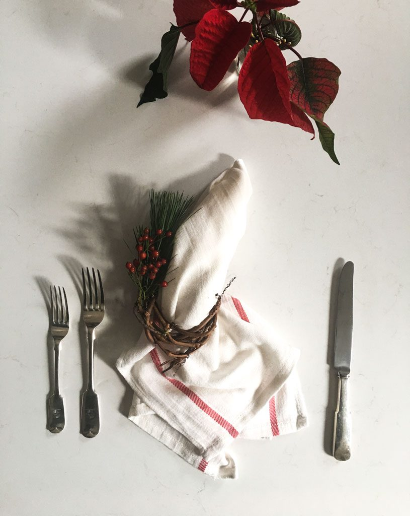 wreath napkin ring