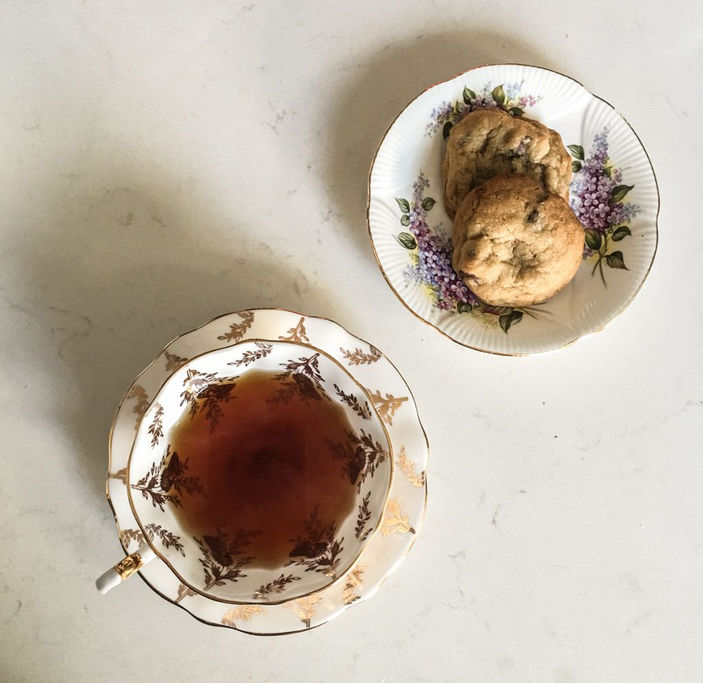 Tea and two cookies