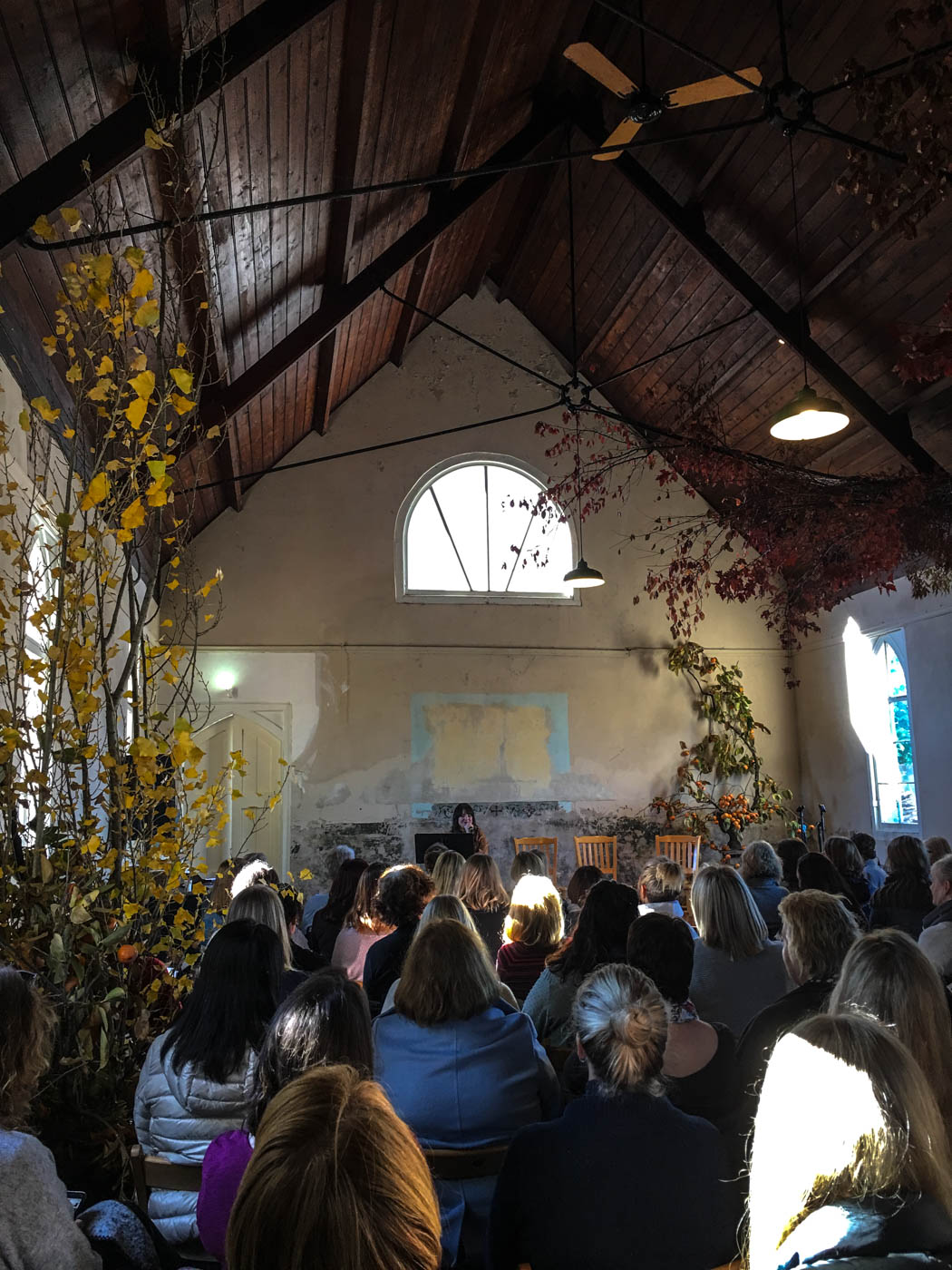 Inside the convent, workshop attendees