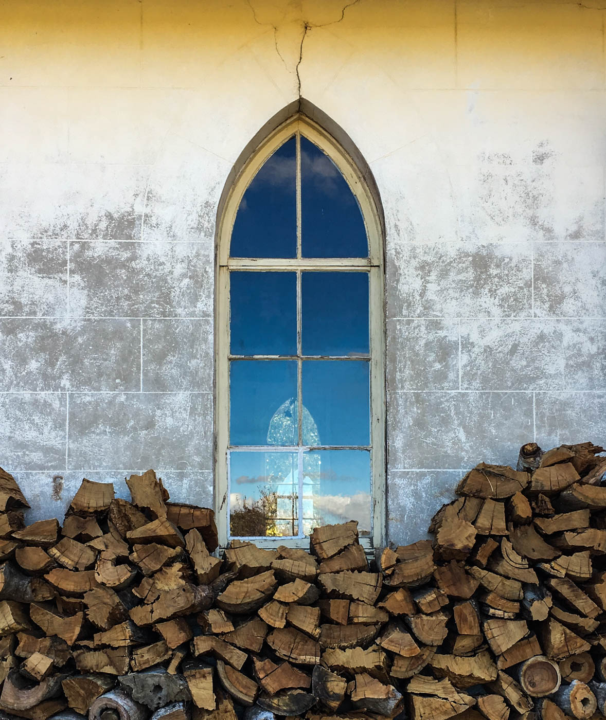 The convent and woodpile