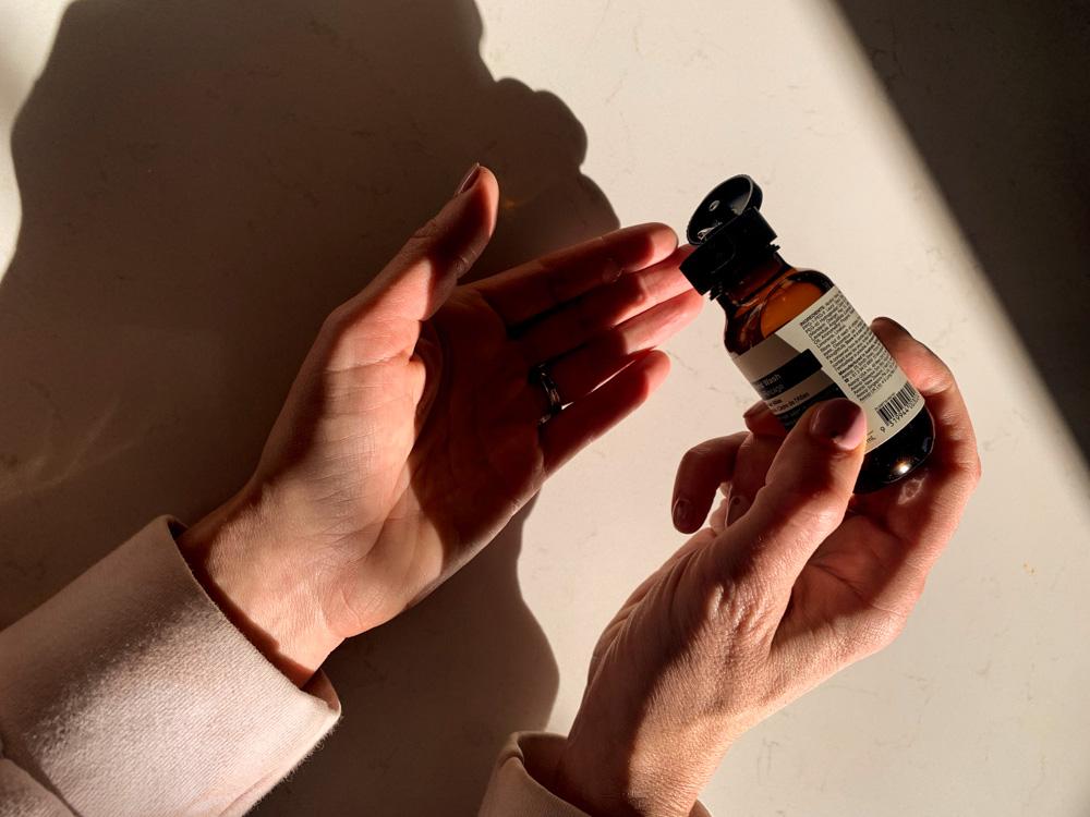 Aesop hand sanitizer