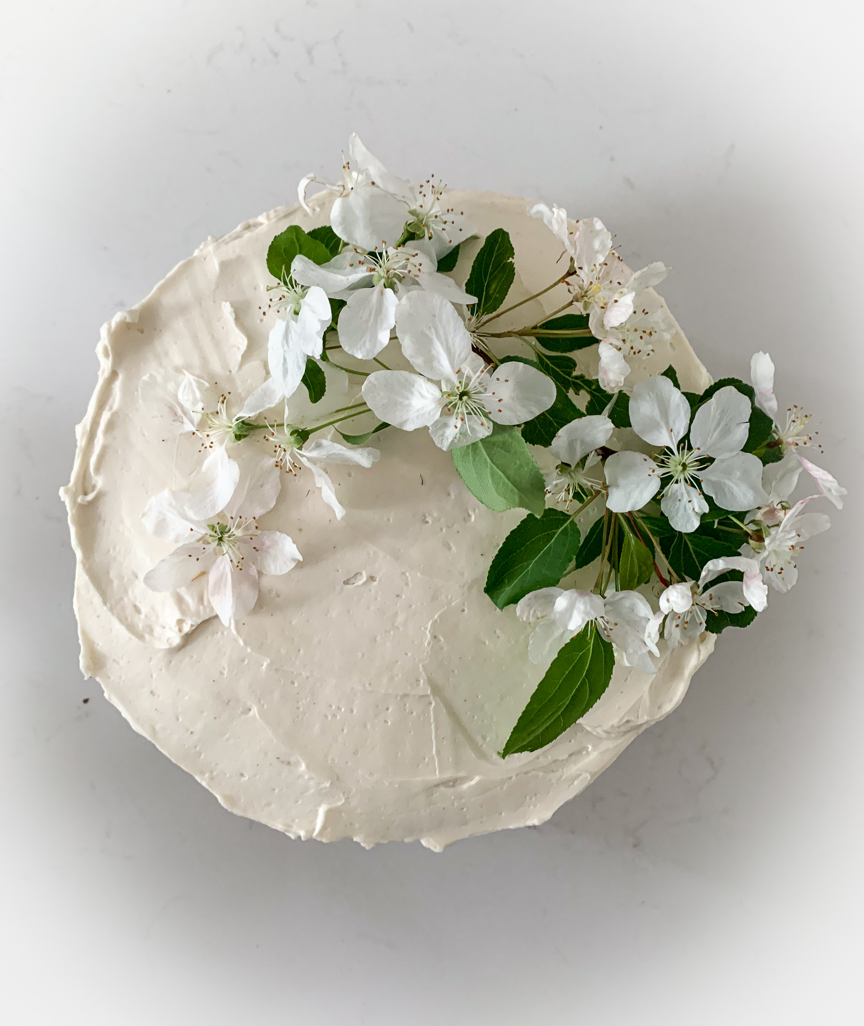 cake with apple blossoms